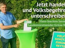 Hanso Janssen unterstützt das Volksbegehren Artenvielfalt.Jetzt!